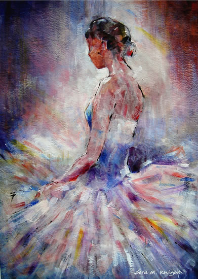 Ballerina Contemplating - Fine Art Print - Ballet & Dance Collection of Paintings