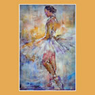 Stage Lights 1 - Photo of painting of Ballet Dancer just about to perform on stage - Painting by Woking Surrey Artis Sera Knight