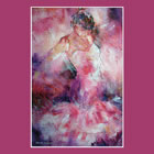 Dance Calendar February - Absorbed In Dance - Dramatic Beautiful Painting by Woking Surrey Artist Sera Knight