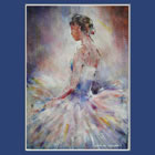 Contemplating - September page of Dance & Ballet Calendar - Photos of paintings of Woking Surrey Artist Sera Knight